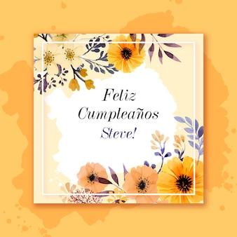Carta di buon compleanno anniversario