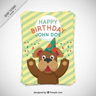 Carta di cane di compleanno