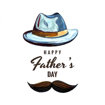 Carta di celebrazione felice festa del papà