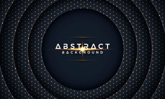 Carta di cerchio scuro tagliato sfondo. 3d moderno astratto