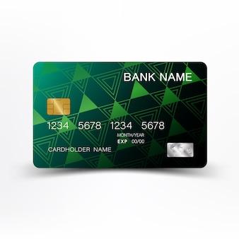 Carta di credito astratta di colore verde.