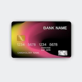 Carta di credito. con ispirazione dall'astratto.