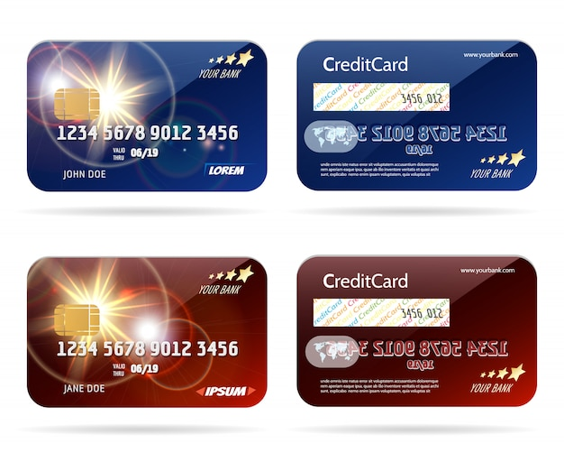 Carta di credito con set di chip