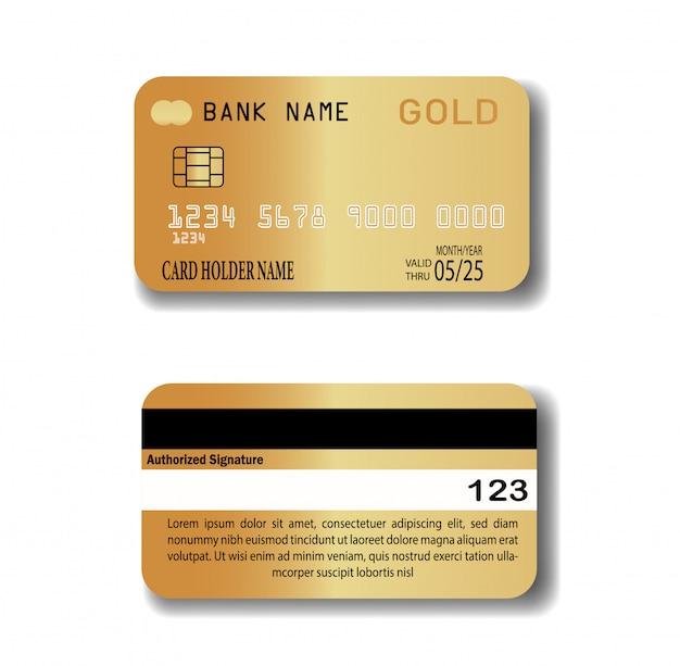 Carta di credito d'oro