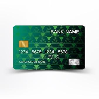 Carta di credito di colore verde.