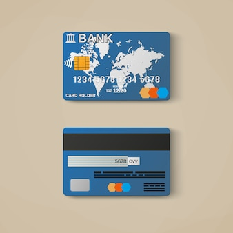 Carta di credito, modello di carta di credito.