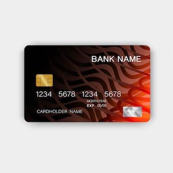 Carta di credito realistica