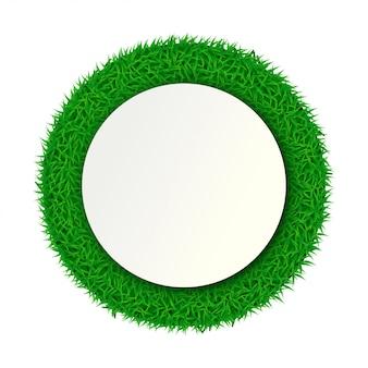 Carta di erba rotonda