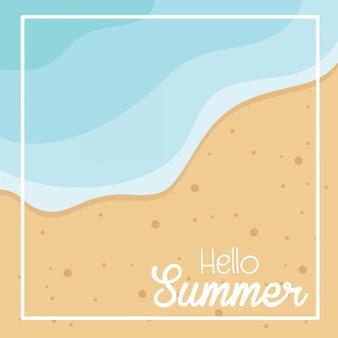 Carta di estate nella sabbia