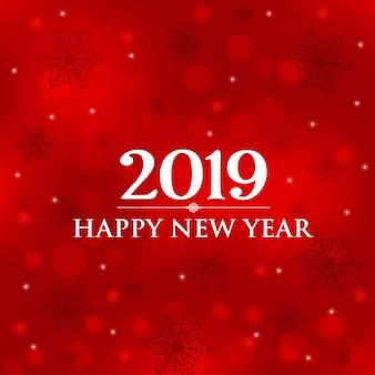 Carta di felice anno nuovo 2019.