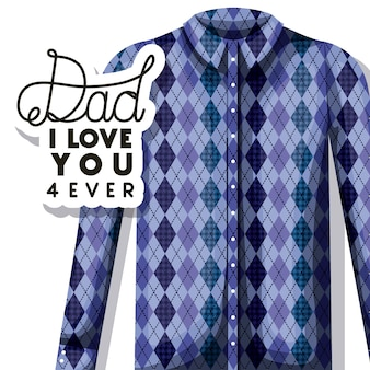 Carta di felice giorno di padri con camicia elegante