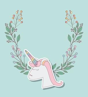 Carta di festa di compleanno con unicorno