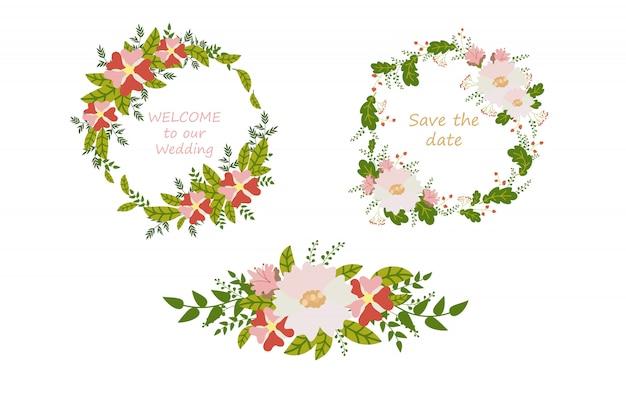 Carta di fiori, modello di invito