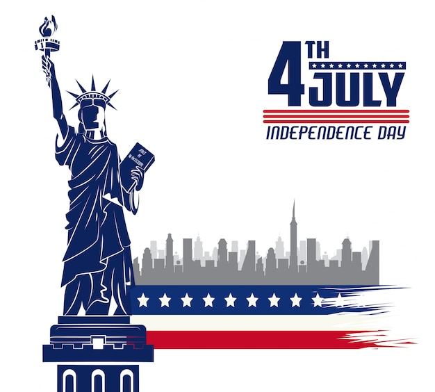 Carta di giorno dell'indipendenza usa