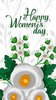 Carta di giorno delle donne felice