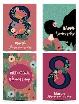 Carta di giorno delle donne felici