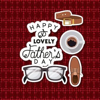 Carta di giorno di padri con accessori set
