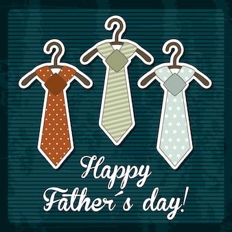 Carta di giorno di padri su sfondo blu illustrazione vettoriale