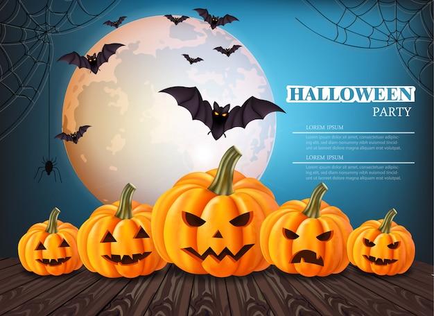 Carta di halloween zucche