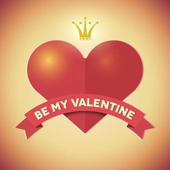 Carta di hipster vintage san valentino con il cuore