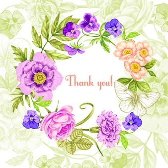 Carta di illustrazione con fiori.