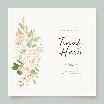 Carta di invito a nozze con bellissime rose
