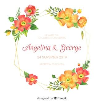 Carta di invito a nozze floreali