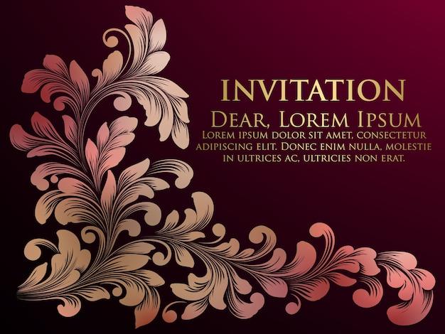 Carta di invito a nozze.