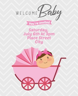Carta di invito baby doccia