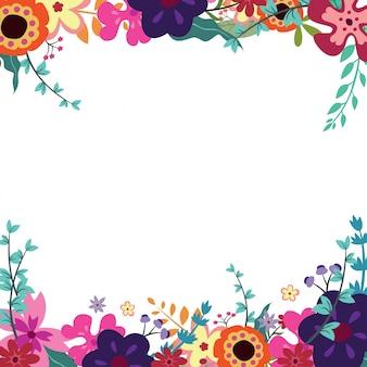 Carta di invito con un disegno floreale