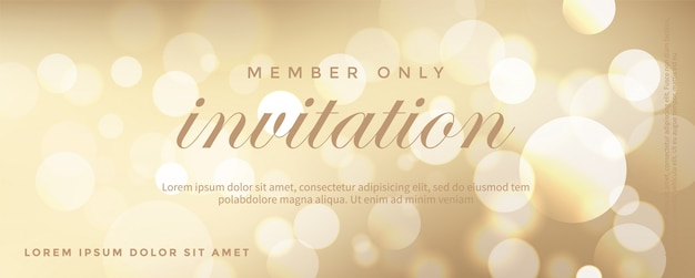 Carta di invito d'oro di lusso