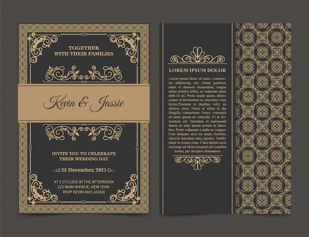 Carta di invito design stile vintage