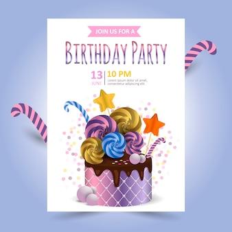 Carta di invito di compleanno