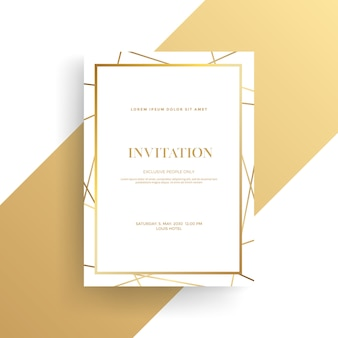Carta di invito di lusso con trama dorata