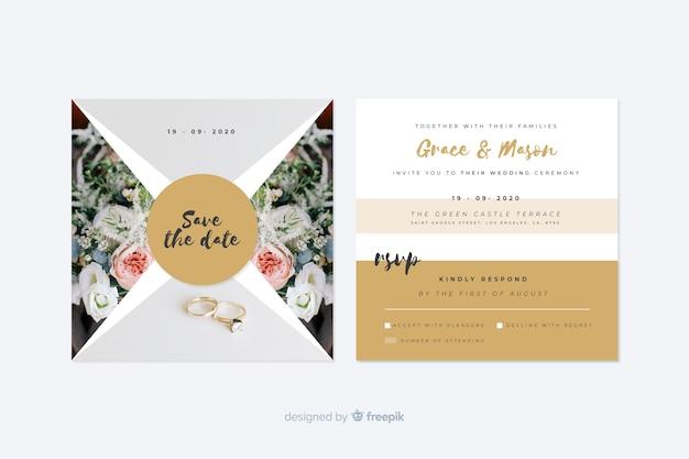 Carta di invito di nozze con foto