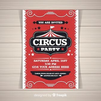 Carta di invito festa circo