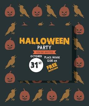 Carta di invito festa di halloween