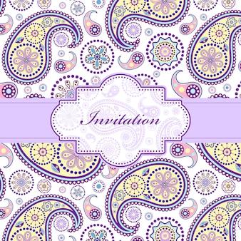 Carta di invito floreale colorato