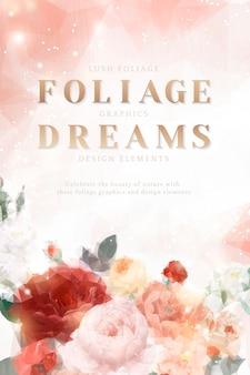 Carta di invito floreale da sogno