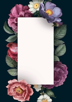 Carta di invito floreale
