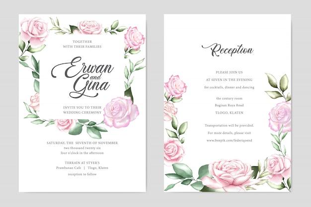 Carta di invito matrimonio acquerello