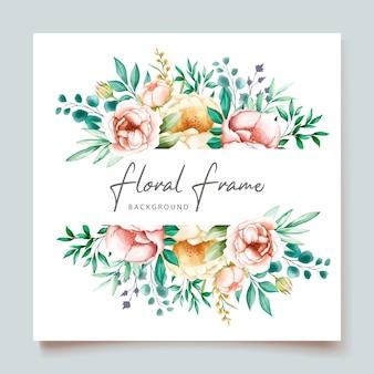 Carta di invito matrimonio elegante con bellissimo floreale