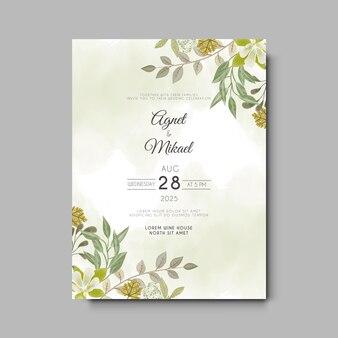 Carta di invito matrimonio floreale bella ed elegante