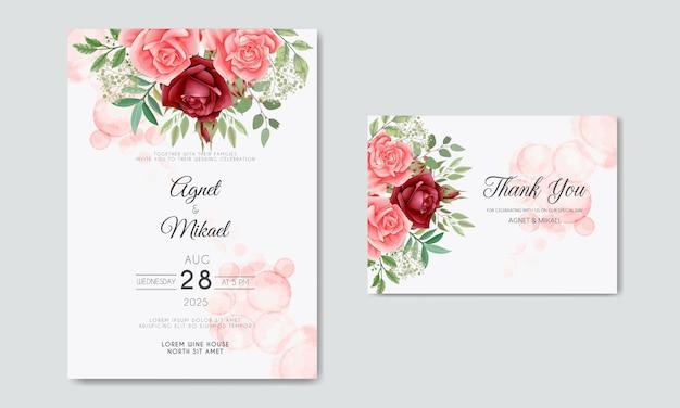 Carta di invito matrimonio floreale bella