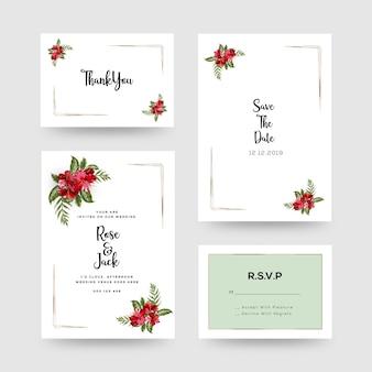 Carta di invito matrimonio floreale