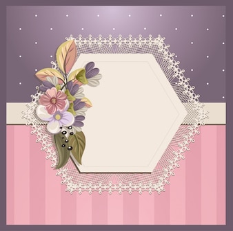 Carta di invito Shabby Chic