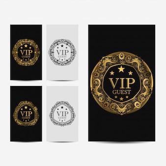Carta di lusso premium vip