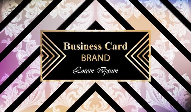 Carta di marca di lusso con ornamento ricco vector. illustrazione astratta di disegno della priorità bassa. posto per i testi