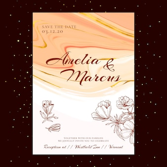 Carta di matrimonio floreale