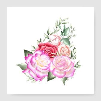 Carta di nozze bouquet acquerello